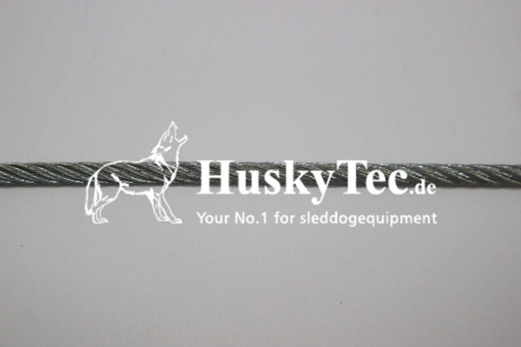 stahlseil 4mm verzinkt huskytec renngeschirre. Black Bedroom Furniture Sets. Home Design Ideas